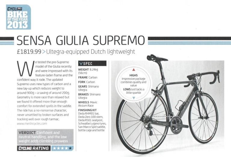 Sensa Giulia Cycling Weekly Review