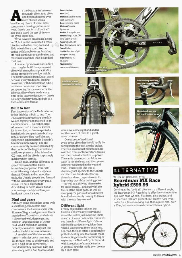 Sensa Umbria Cycling Active Review 2