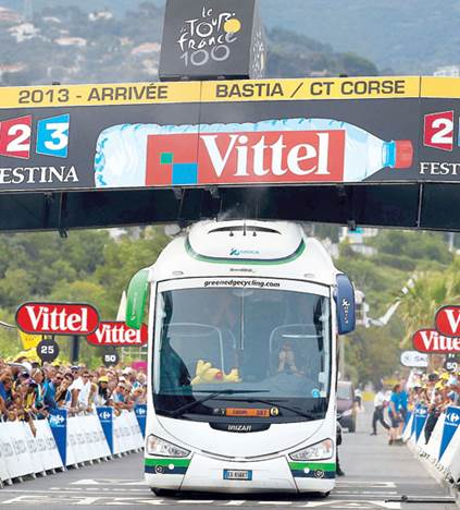 Team Orica Bus Tight Finishing Line Fit