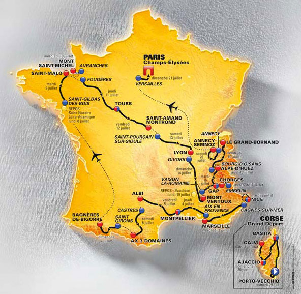 TdF 2013 Route