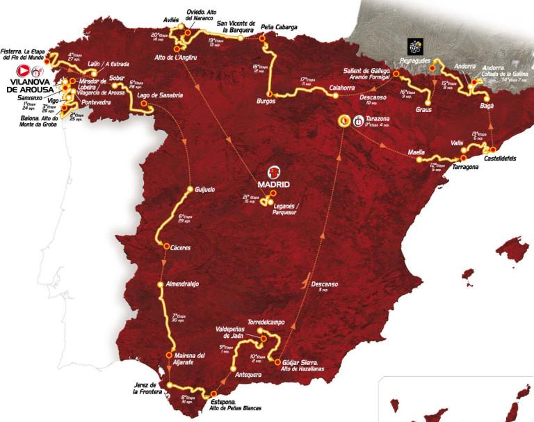 Vuelta a Espana 2013 Route