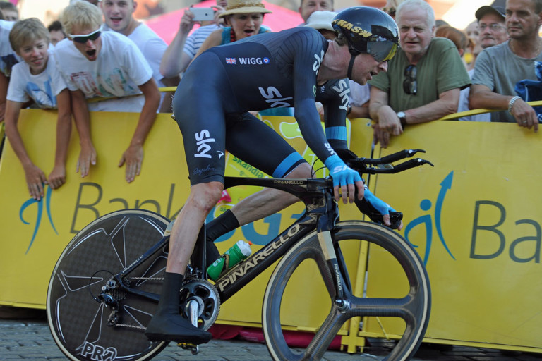 Wiggo in action - TT Stage Tour of Poland