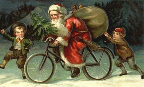 santa-biking