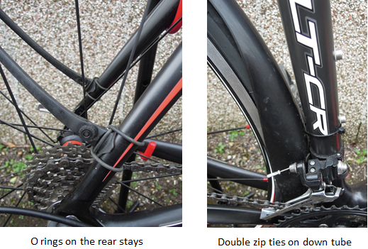 Rear Seat Stay and Down Tube Attachment