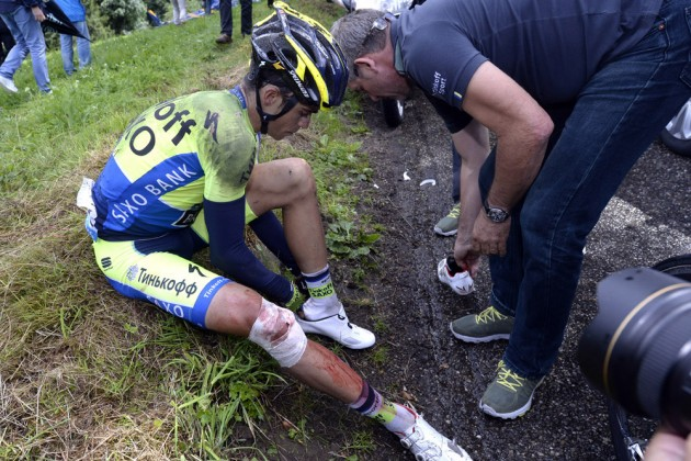 Contador after crash