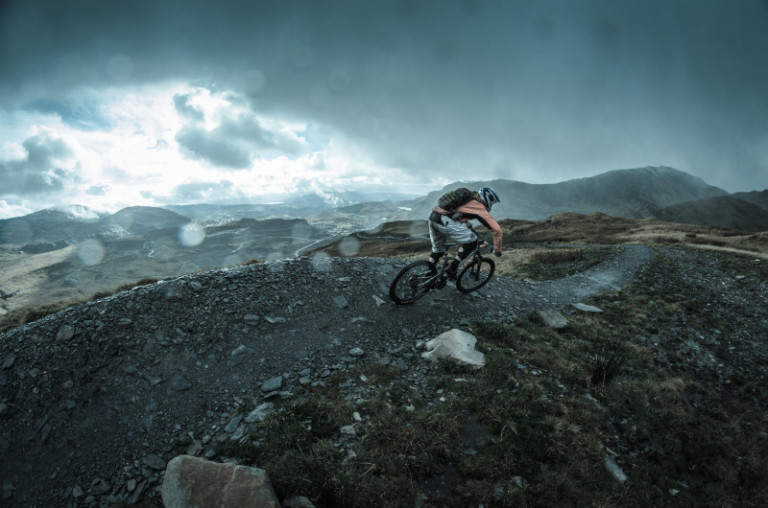 downhill riding