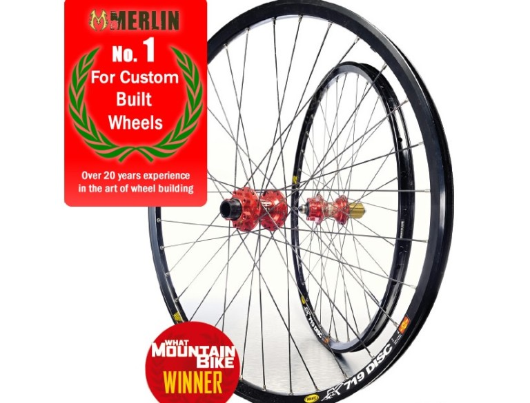 A pair of mountain bike wheels