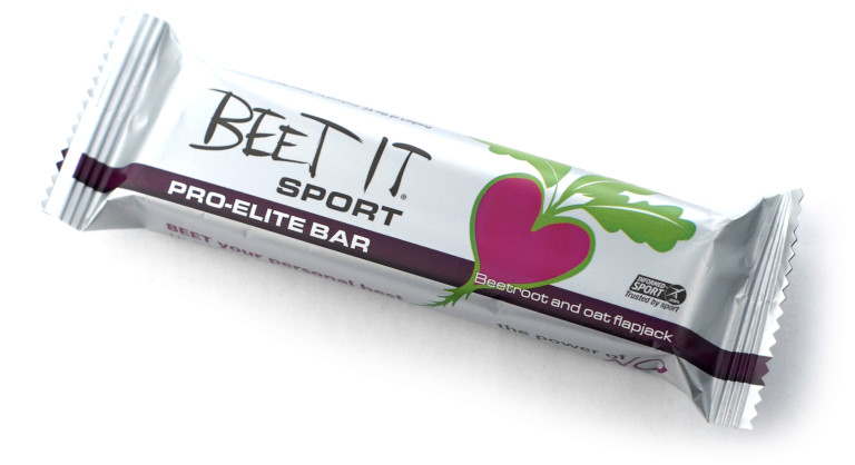 And now for something completely different - beetroot flapjack bar from Beet It
