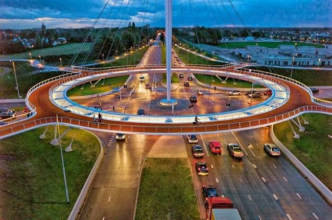 Hovenring Suspended Bicycle Roundabout