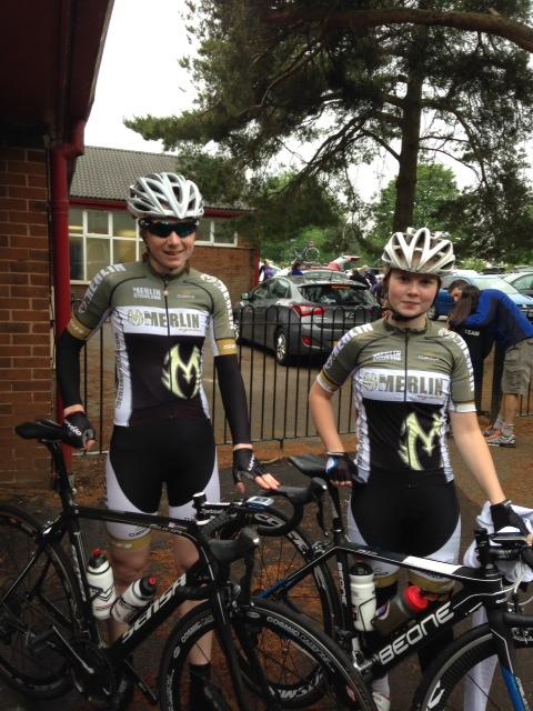 Alex (right) with fellow Merlin rider Bex Rimmington