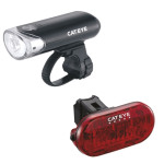 Cateye EL135 Front and OMNI 5 Rear Bike Light Set