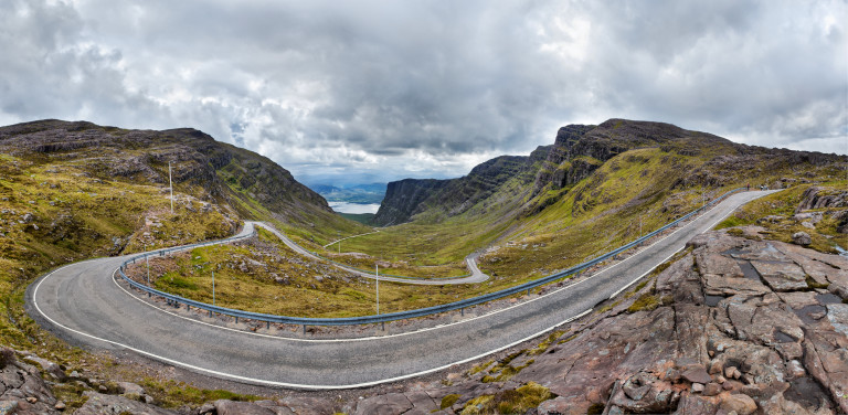 """Bealach na Ba Pano"" by Stefan Krause, Germany - Own work. Licensed under Free Art License via Wikimedia Commons"