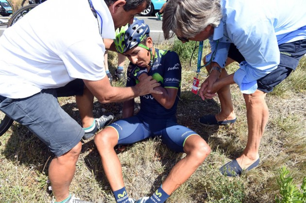 Quintana crashes