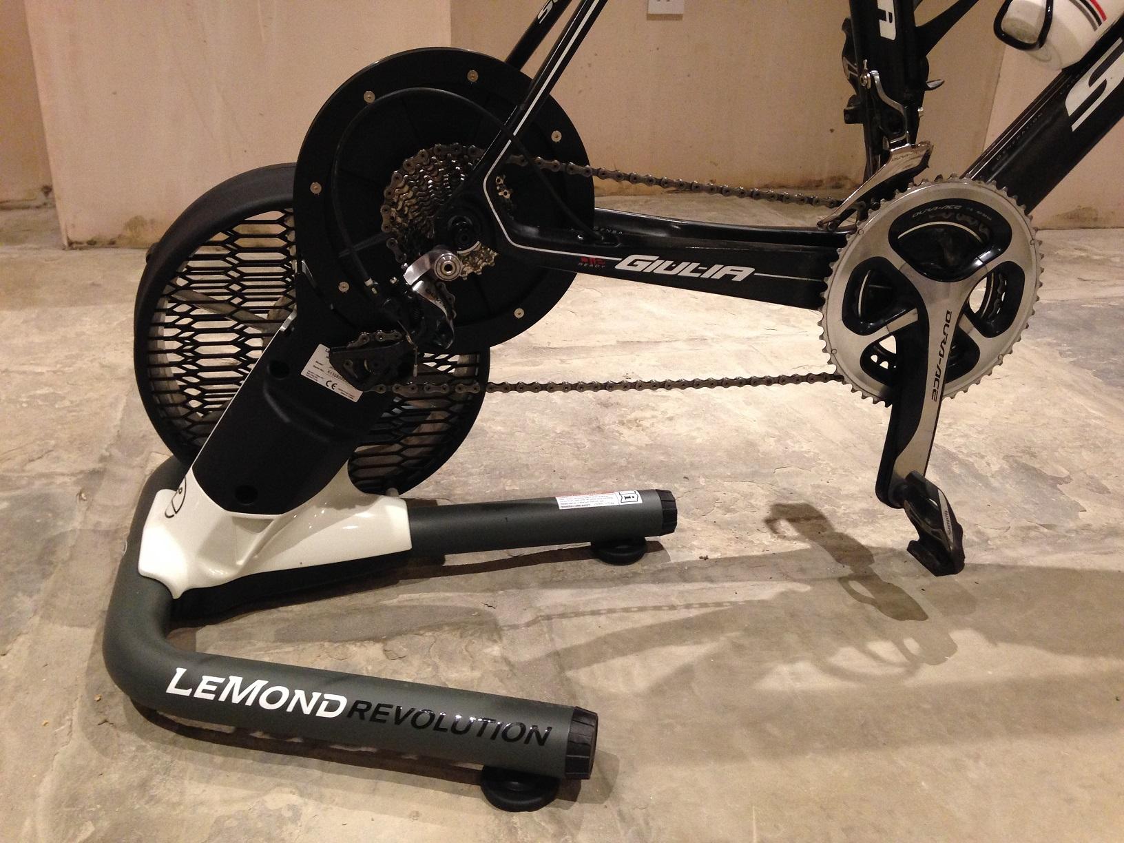 lemond revolution trainer bike mounted