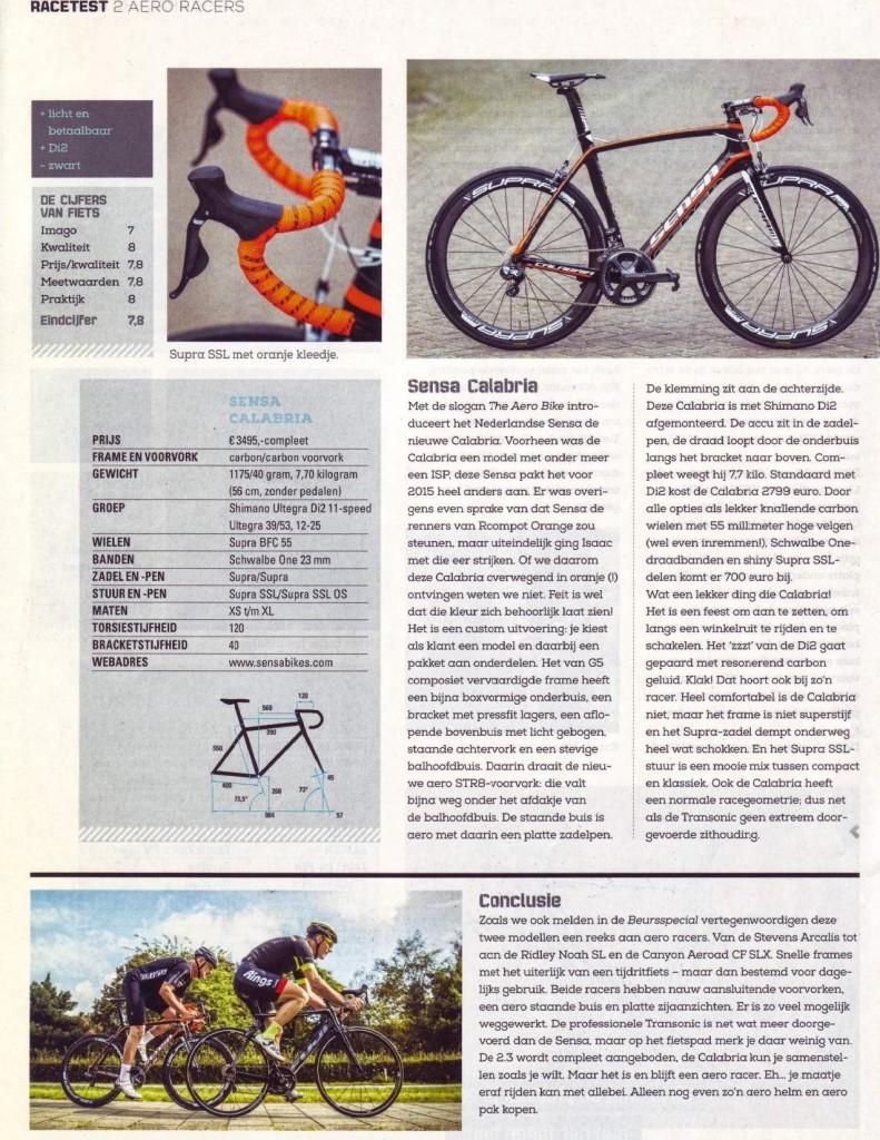 fiets magazine review sensa calabria