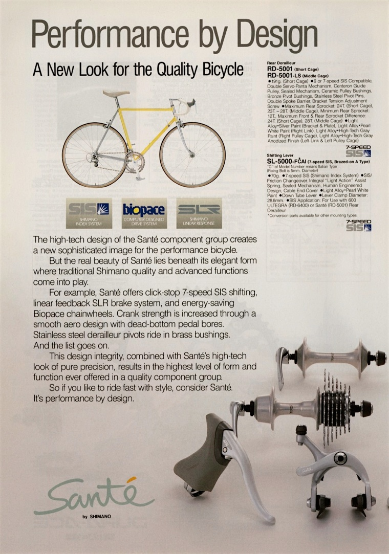 shiano sante groupset advert