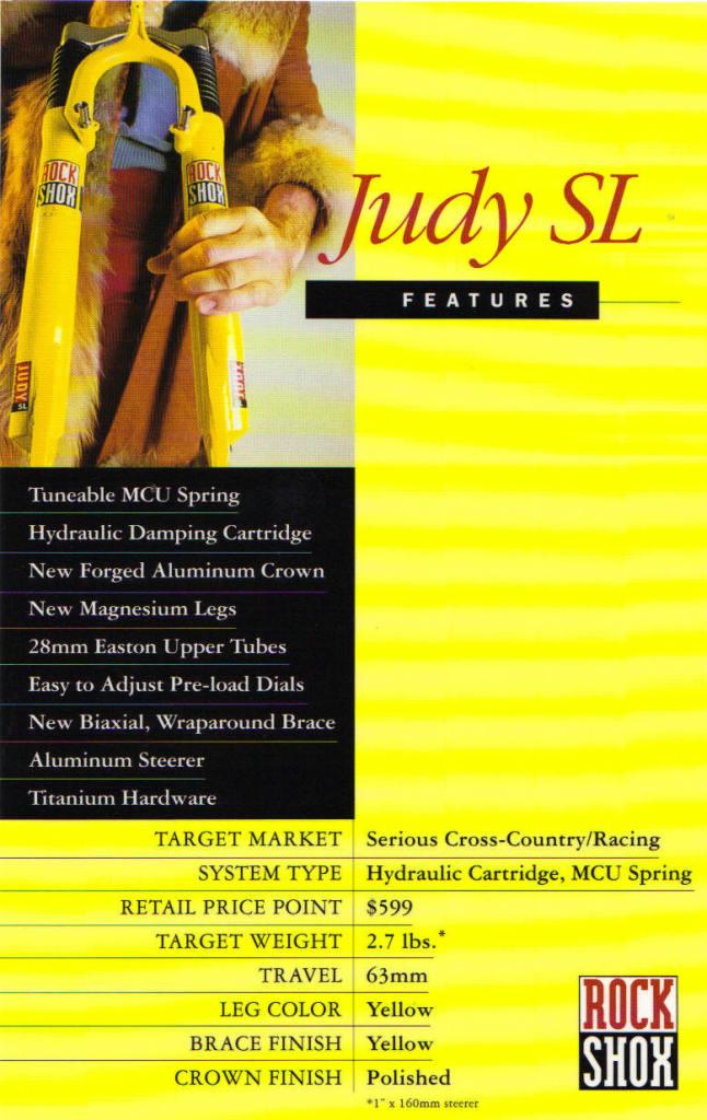 1995 - RockShox Judy SL
