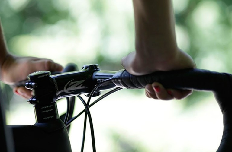 road bike handlebars sideview