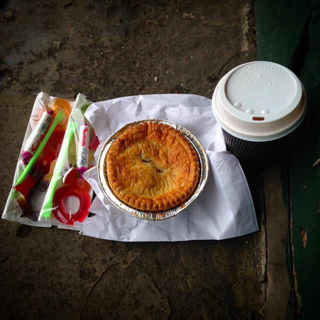 pie, sweets and coffee