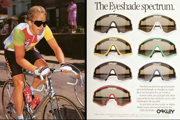 Oakley Eyeshade advert greg lemond