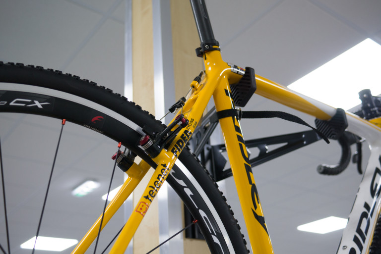 Team Telenet Fidea's old Ridley X-Night cyclocross bikes