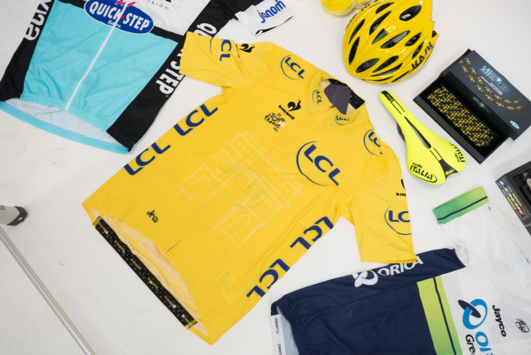 Le Coq Sportif Tour de France Premium Authentic Yellow jersey