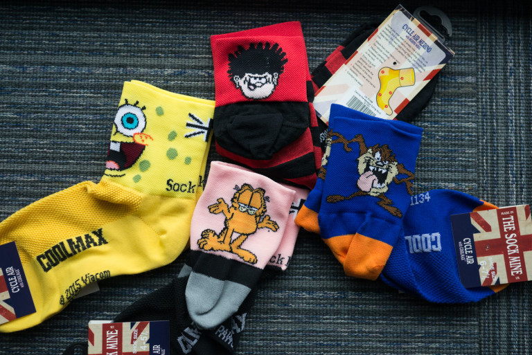 Sockmine cartoon character socks