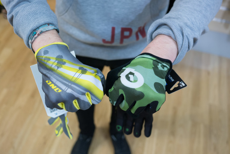 One Industries Zero gloves and SixSixOne Comp gloves