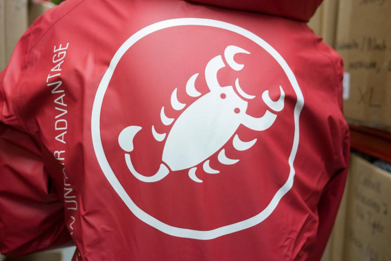 Castelli Meccanico reversible rain jacket