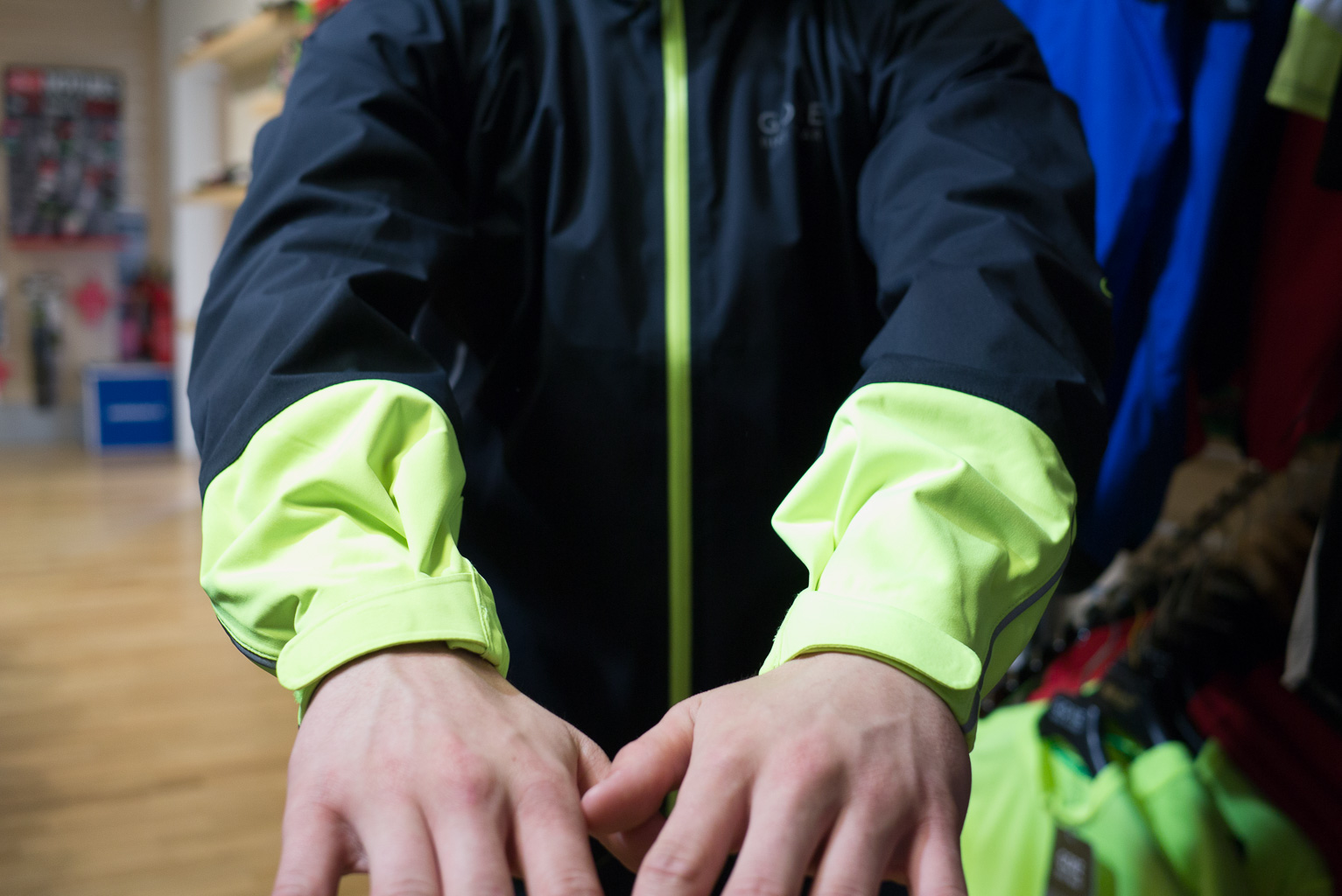 gore power active shell jacket arm length