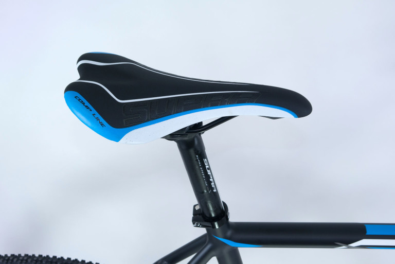 Supra saddle and seatpost on the Sensa Trentino CXD