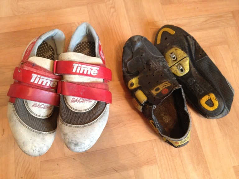 time and sidi vintage cycling shoes