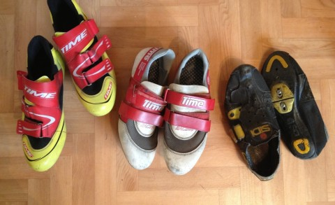 sidi and time vintage cycling shoes