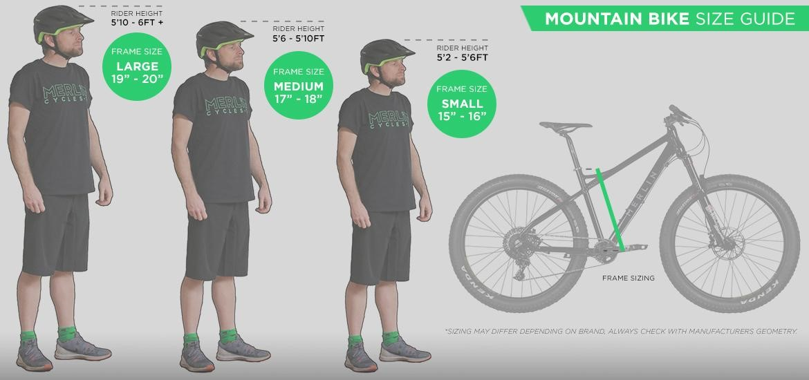 Our Ultimate Mountain Bike Size Guide - Merlin Cycles Blog