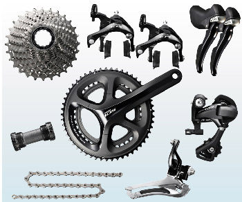 Shimano 105 5800 Groupset And Pedal Offer