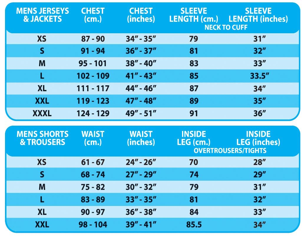 ALTURA SIZE GUIDE - Evans Cycles